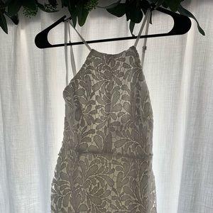 Lulu's white lace mini dress